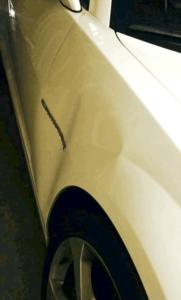 white car Salinas quick dent repair