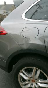 gray car dent repair in Monterey California