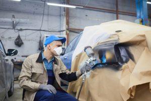 professional car paint shop